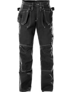 Mocne spodnie robocze monterskie 100% bawełniane 255K FAS Fristads BLACK