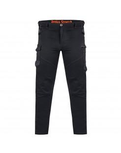 Remus Elastyczne Spodnie monterskie proste nogawki