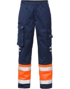 Mocne spodnie robocze ostrzegawcze, olejoodporne Hi-Vis 213 PLU Fristads Kansas