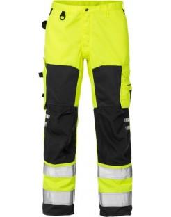 Mocne spodnie robocze ostrzegawcze, olejoodporne Hi-Vis 2026 PLU Fristads Kansas