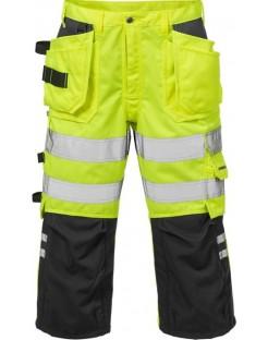 Mocne spodnie robocze ostrzegawcze, olejoodporne Hi-Vis 2027 PLU Fristads Kansas