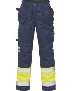 Mocne spodnie robocze ostrzegawcze, olejoodporne Hi-Vis 2029 PLU Fristads Kansas