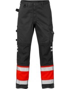Mocne spodnie robocze ostrzegawcze, olejoodporne Hi-Vis 2032 PLU Fristads Kansas